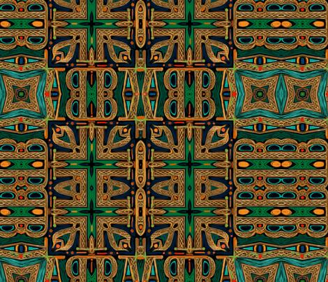 brave-celtic-orange fabric by wren_leyland on Spoonflower - custom fabric