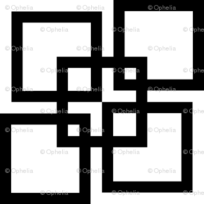 Wobble Lattice Pattern - Black On White