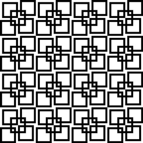 Wobble Lattice Pattern - Black On White