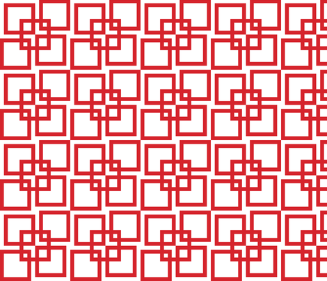 Wobble Lattice Pattern - Red On White fabric by ophelia on Spoonflower - custom fabric