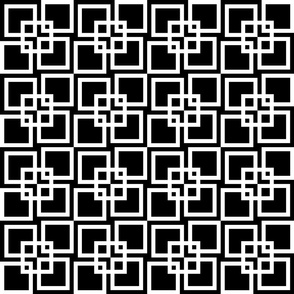 Wobble Lattice Pattern - White On Black
