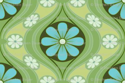 Retro Petite Daisy in Sea of Green