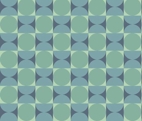 Retro Reverb in Moody Blue fabric by bradbury_&_bradbury on Spoonflower - custom fabric