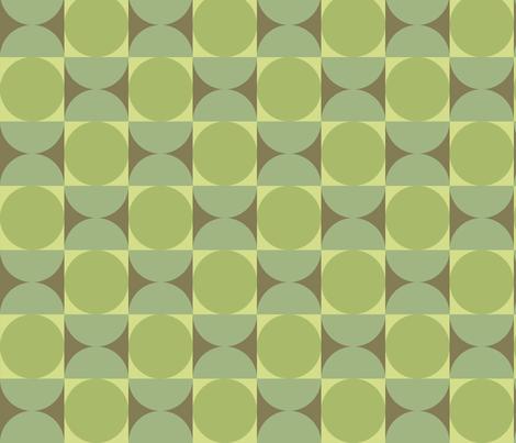 Retro Reverb in Tambourine Green fabric by bradbury_&_bradbury on Spoonflower - custom fabric
