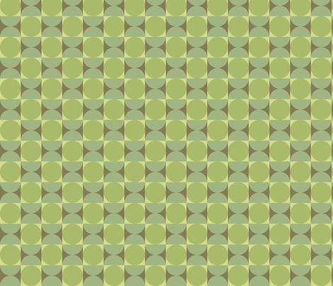 Retro Petite Reverb in Tambourine Green   fabric by bradbury_&_bradbury on Spoonflower - custom fabric