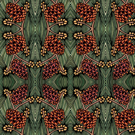 Pine_Cones fabric by sarah_angst_arts on Spoonflower - custom fabric