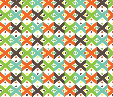 Exes fabric by printablecrush on Spoonflower - custom fabric