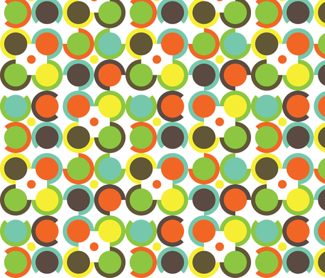 Tribal Circles fabric by printablecrush on Spoonflower - custom fabric