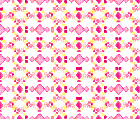 Watercolor Aztec fabric by sara_berrenson on Spoonflower - custom fabric