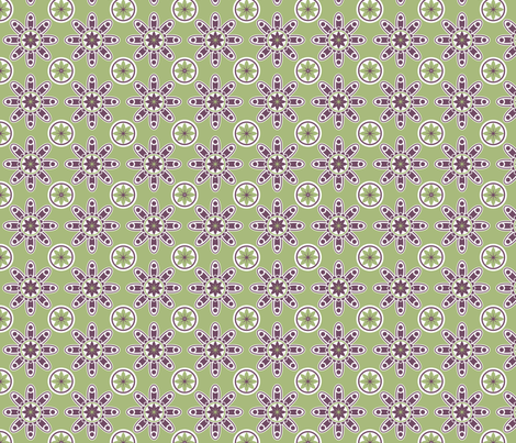 Green and purple geometric design fabric by ducktape74 on Spoonflower - custom fabric