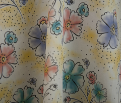Brilliant  Blooms - Vintage Watercolor Floral Yellow