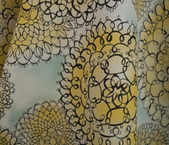 Delightful Doilies - Feminine Lace Yellow & Blue