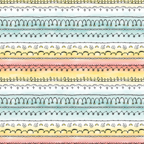 Frills & Fancies - Watercolor Stripe fabric by heatherdutton on Spoonflower - custom fabric