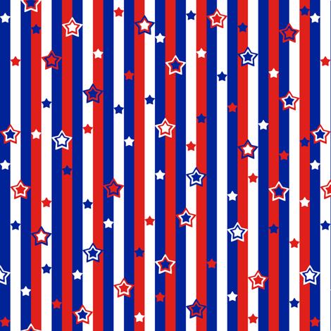 Starry Starry Stripes fabric by modgeek on Spoonflower - custom fabric