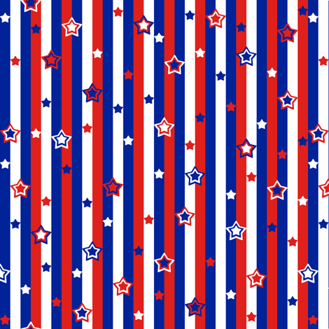 Starry Starry Stripes fabric by modgeek on Spoonflower - custom fabric