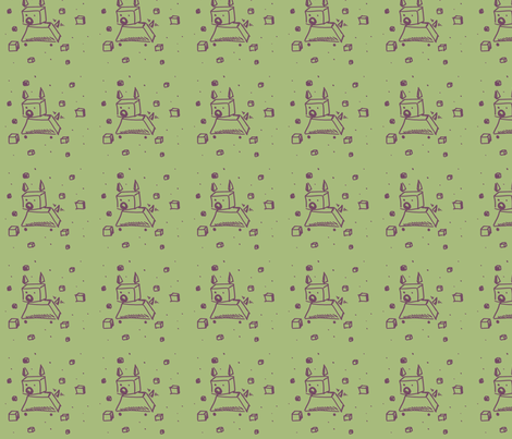 CubeDog fabric by annethecatdetective on Spoonflower - custom fabric