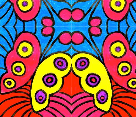 Butterfly Painting fabric by sugarplumdolls on Spoonflower - custom fabric