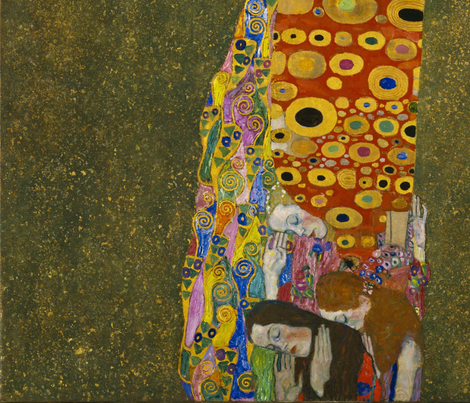 Hope II - G. Klimt fabric by azizakadyri on Spoonflower - custom fabric