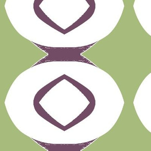 Circle Stripe 1 (plum & sage)
