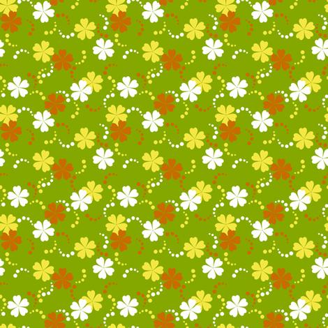 Citrusy-Ditsy Flowers fabric by siya on Spoonflower - custom fabric