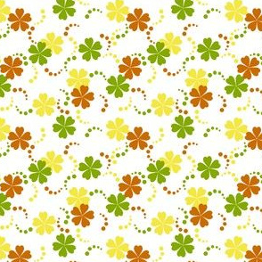 Citrusy-Ditsy Flowers on White