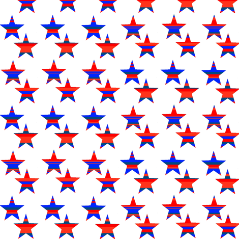 Stars with Stripes fabric by neetz on Spoonflower - custom fabric