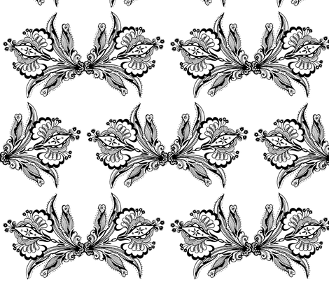 old_lace_flower_pair fabric by vinkeli on Spoonflower - custom fabric