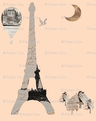 Eiffel Tower on Peach