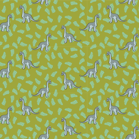 SMALLGreyDino2012 fabric by nikky on Spoonflower - custom fabric