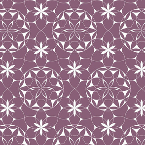 Lacey_web_of_flowers (plum) - large scale