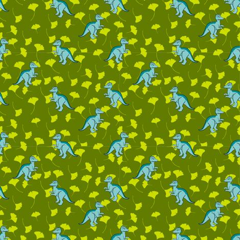 SMALLBlueDino2012 fabric by nikky on Spoonflower - custom fabric