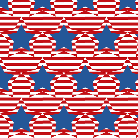 Stars and Stripes fabric by mammajamma on Spoonflower - custom fabric