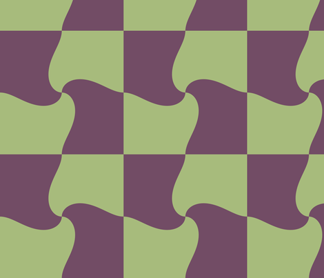 Lime_and_Grape_Whirl_Check fabric by pd_frasure on Spoonflower - custom fabric