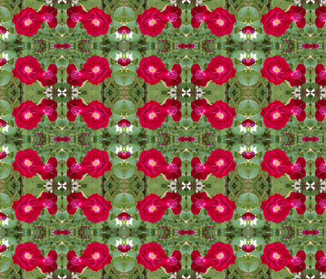 Red Rose fabric by painter13 on Spoonflower - custom fabric