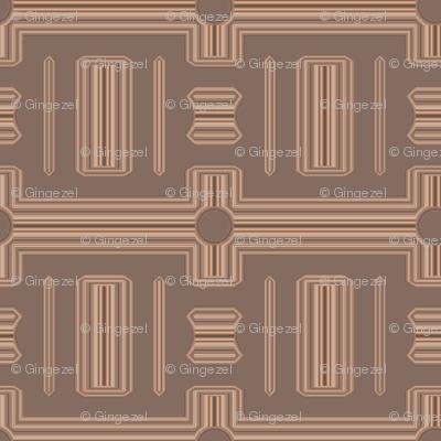 Terrace Brown Frieze Stripe © Gingezel™ 2012