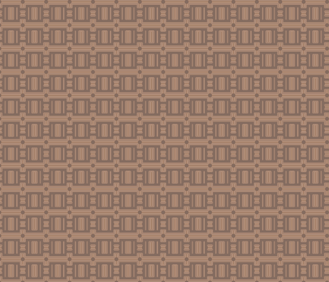 Terrace Brown Frieze Stripe © Gingezel™ 2012 fabric by gingezel on Spoonflower - custom fabric