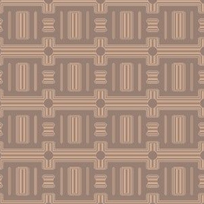 Terrace Brown Frieze Stripe © Gingezel™ 2012