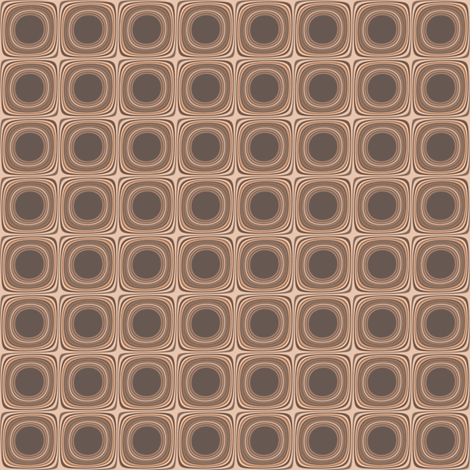 Terrace Brown Squares © Gingezel™ 2012 fabric by gingezel on Spoonflower - custom fabric