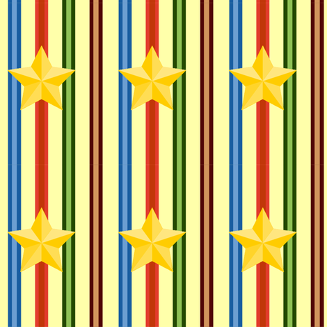 Stars and Stripes fabric by flyingfish on Spoonflower - custom fabric