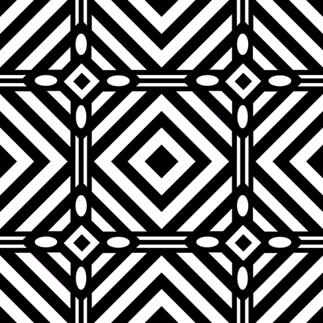 A Geo / black & white fabric by paragonstudios on Spoonflower - custom fabric