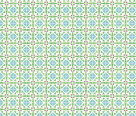 geotiles_blue fabric by atomic_bloom on Spoonflower - custom fabric