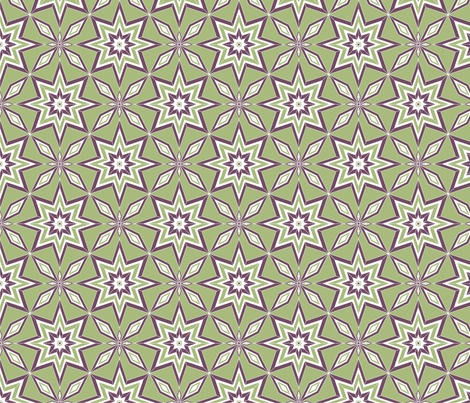 GeoBlossoms fabric by jjtrends on Spoonflower - custom fabric