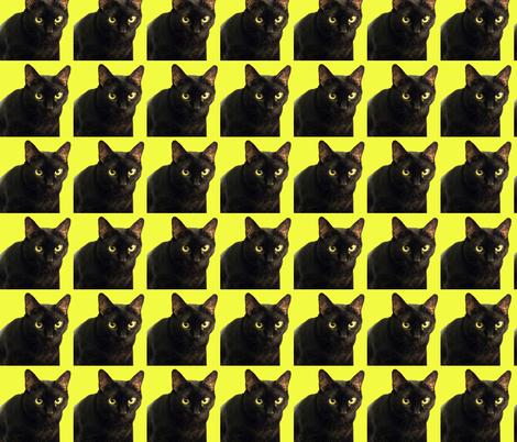 Velvet the Cat 10 Yellow fabric by oceanpeg on Spoonflower - custom fabric