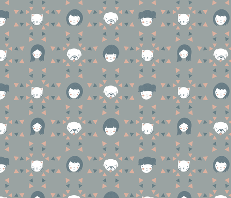 cats n dogs (rainy day) fabric by youngcaptive on Spoonflower - custom fabric