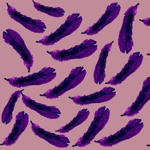 Purple Rain of Feathers