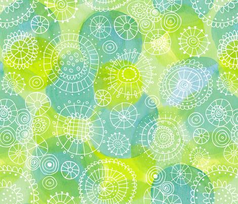Blooming Waters fabric by snowflower on Spoonflower - custom fabric