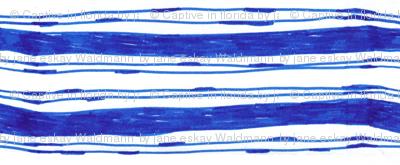 Bohemian Blue Stripes Vertical