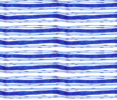 Bohemian Blue Stripes Vertical fabric by captiveinflorida on Spoonflower - custom fabric