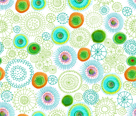 Sea Daisies fabric by snowflower on Spoonflower - custom fabric