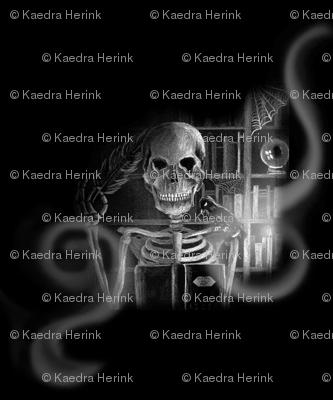 Skeleton in his Study